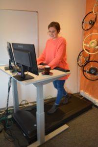 Der Renner bei BeoPlast: Der Laufband-Schreibtisch für unsere Mitarbeiter.
