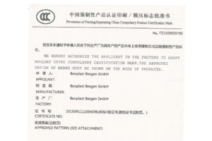 Beoplast receives CCC-Certificate