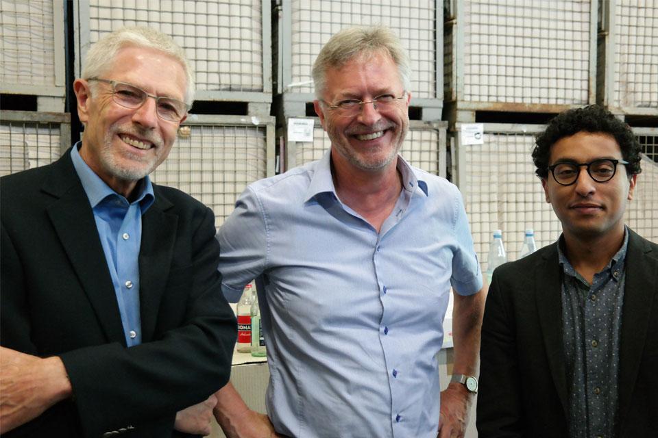 Dr. Helmut Kühr, Theo Besgen and Prof. Dr. Mohammad Al-Saidi