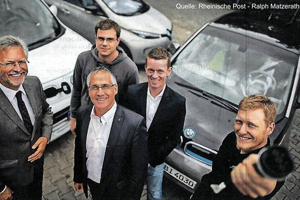 Unternehmen setzen auf Elektro-Autos