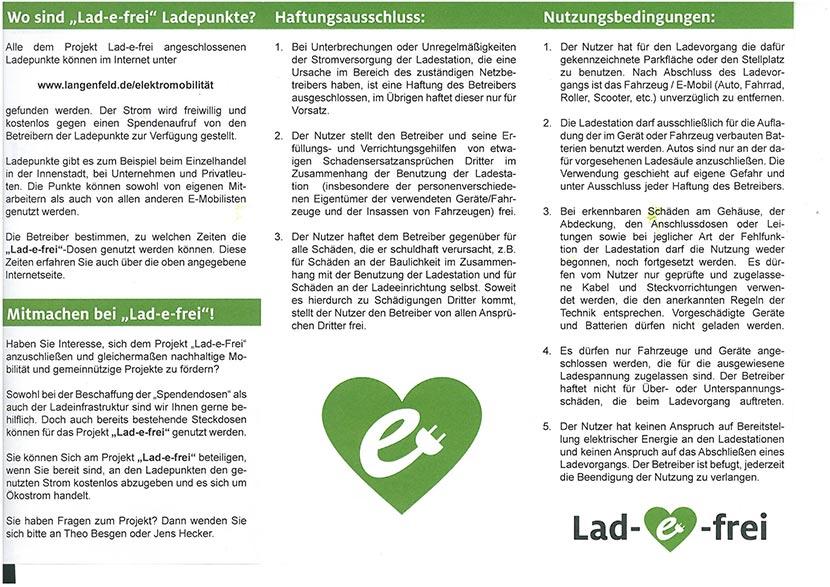 """BeoPlast und Theo Besgen als Mitinitiator einer neuen Bewegung: das Projekt """"Lad-e-frei"""""""