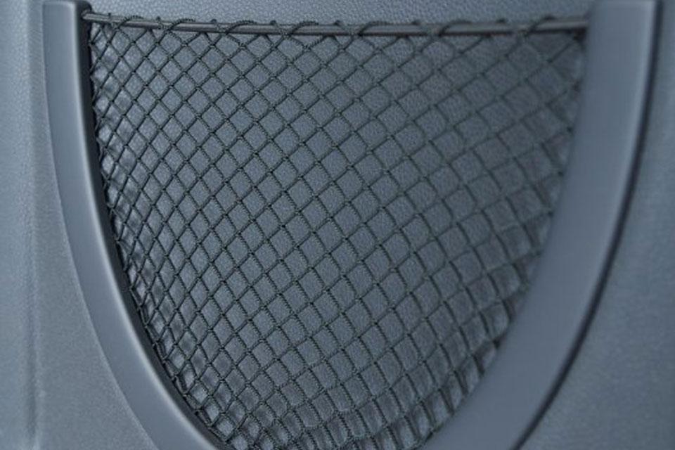 Backpanel mit verschweißter Netztasche