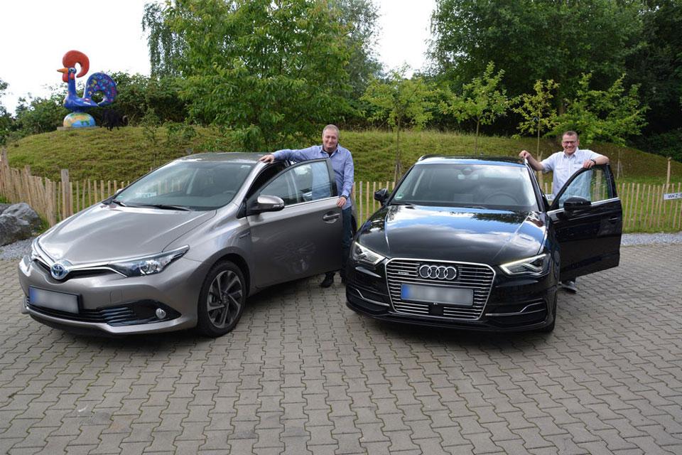 Zwei neue Hybridfahrzeuge verstärken die E-Mobil-Flotte von BeoPlast.
