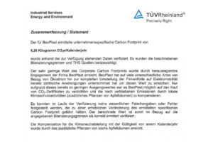 TÜV Rheinland confirms outstanding commitment